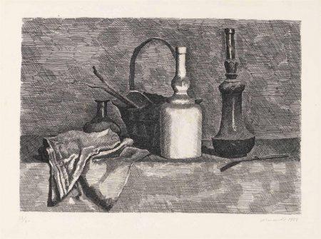 Giorgio Morandi-Natura Morta Con Il Panneggio A Sinistra-1927