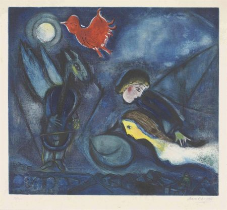 After Marc Chagall - Aleko-1955