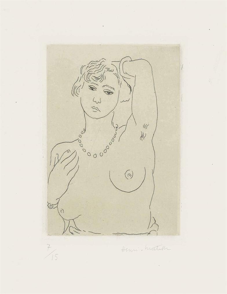 Henri Matisse-Buste De Femme Avec Collier Et Bracelet-1926