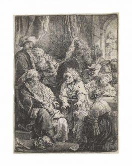 Rembrandt van Rijn-Joseph Telling His Dreams-1638