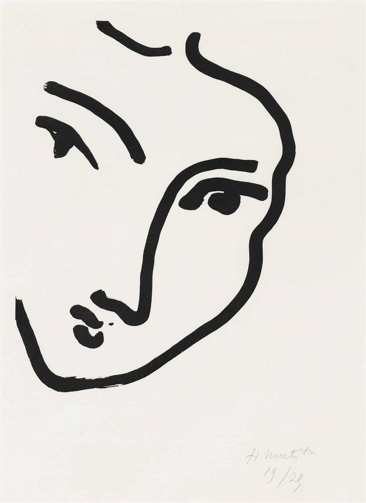 Henri Matisse-Nadia Au Menton Pointu-1948