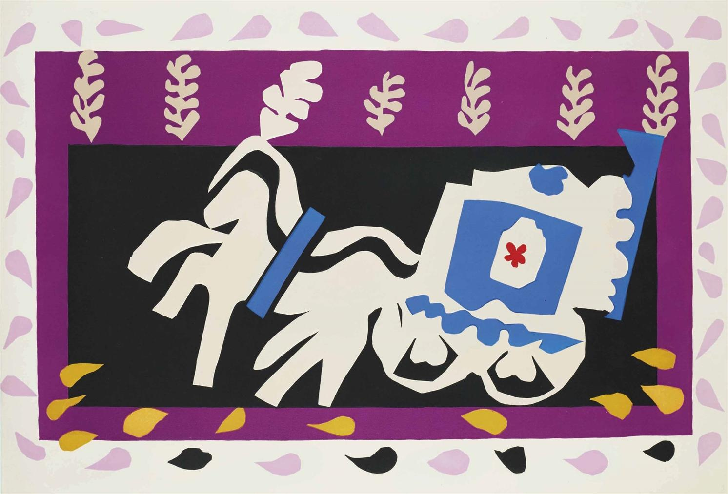 Henri Matisse-Lenterrement De Pierrot, From: Jazz-1947