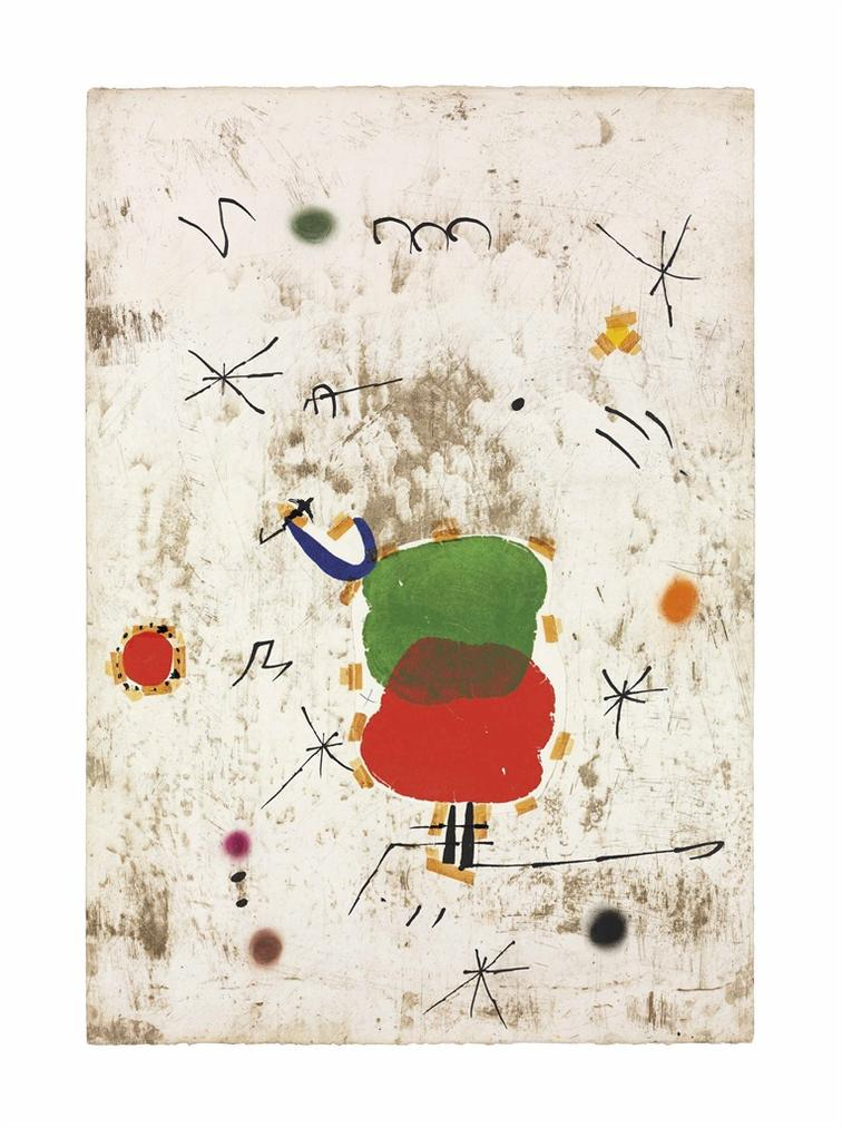 Joan Miro-Maquette For: Persontage I Estels I-1979
