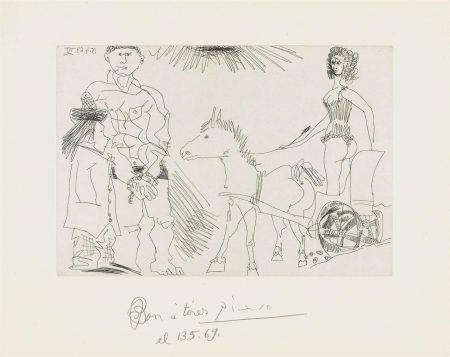 Pablo Picasso-Plate 3, From: El Entierro Del Conde De Orgaz-1966