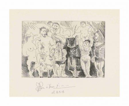 Pablo Picasso-Plate 6, From: El Entierro Del Conde De Orgaz-1966