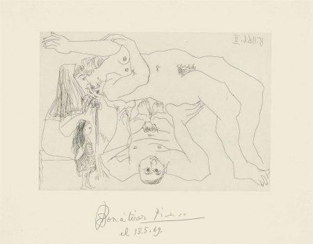 Pablo Picasso-Plate 8, From: El Entierro Del Conde De Orgaz-1966