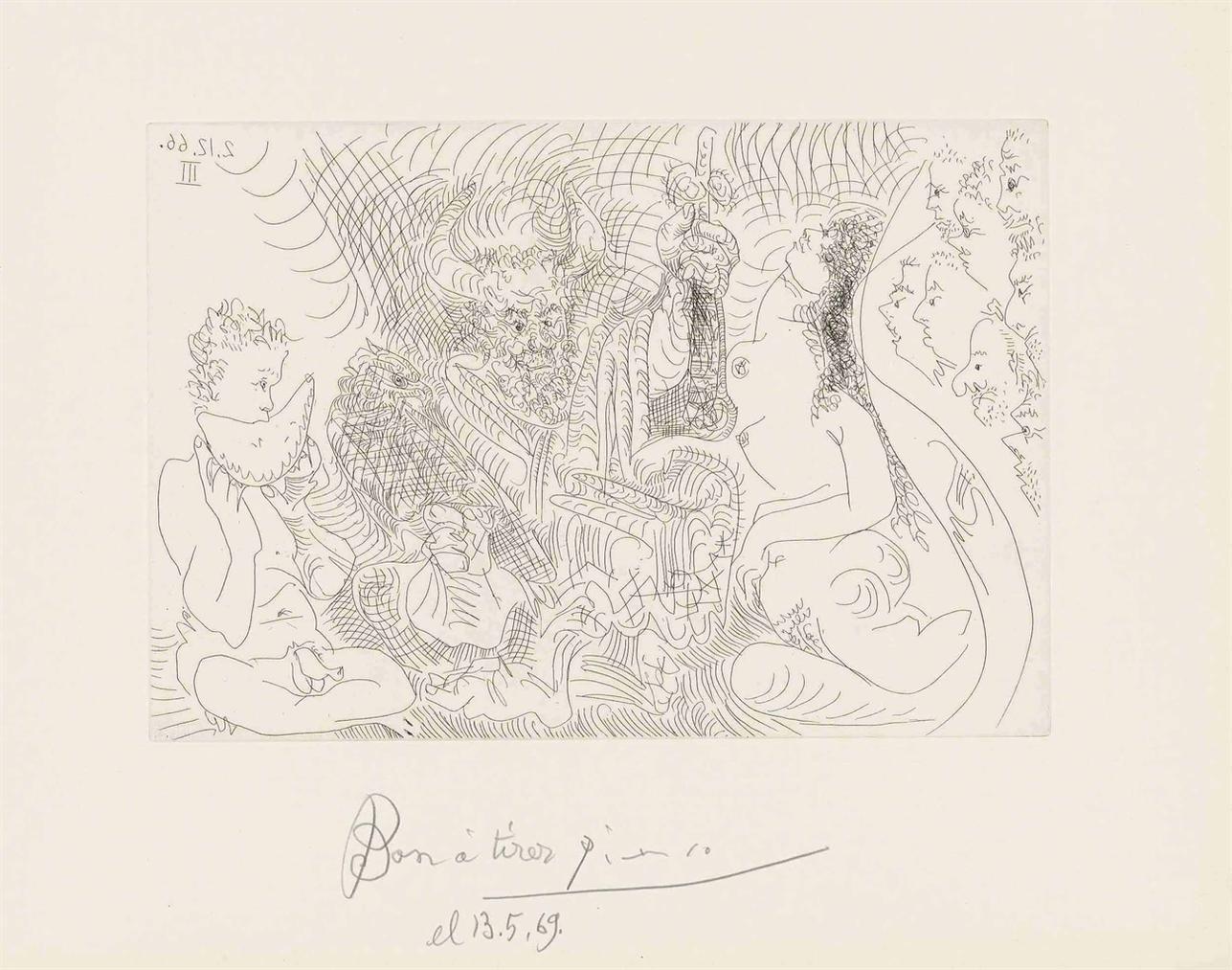 Pablo Picasso-Plate 12, From: El Entierro Del Conde De Orgaz-1966