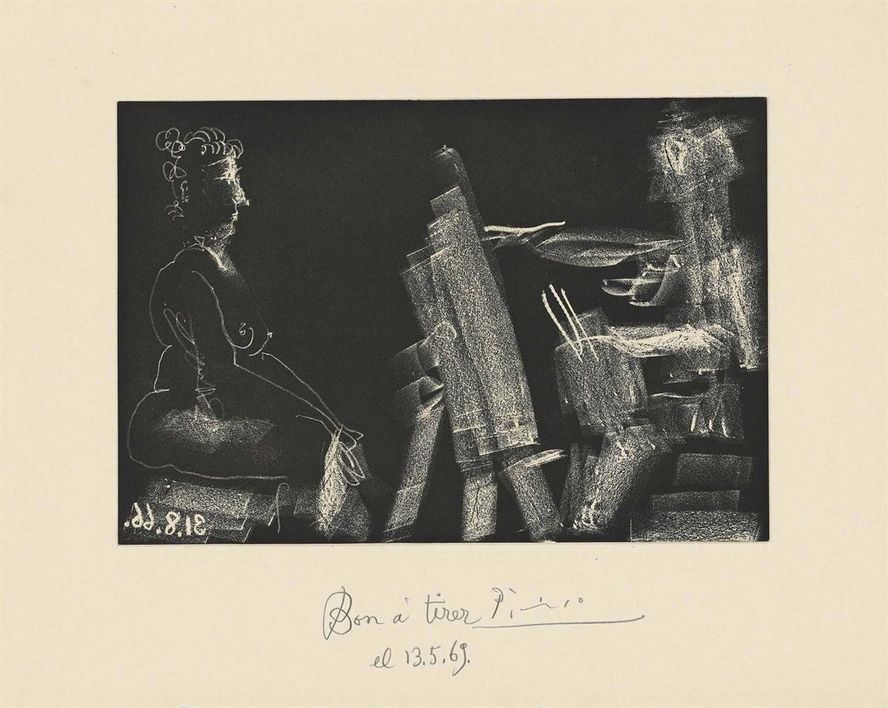 Pablo Picasso-Plate 13, From: El Entierro Del Conde De Orgaz-1966