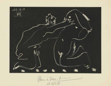 Pablo Picasso-Plate 14, From: El Entierro Del Conde De Orgaz-1966
