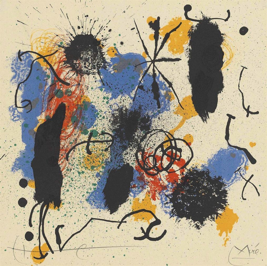 Joan Miro-Je Travaille Comme Un Jardinier-1964