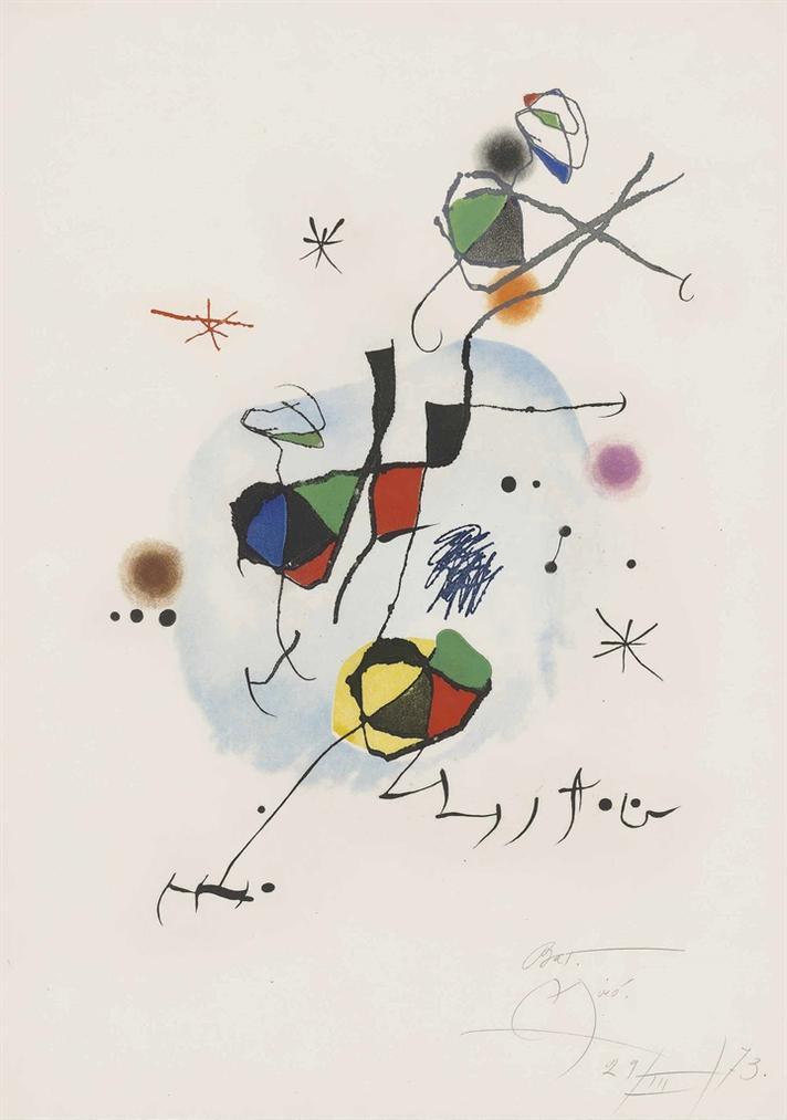 Joan Miro-Els Castellers-1973