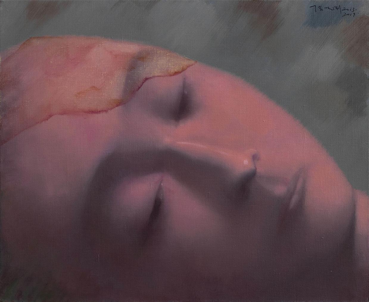 Zhang Xiaogang-Dull Red-2017