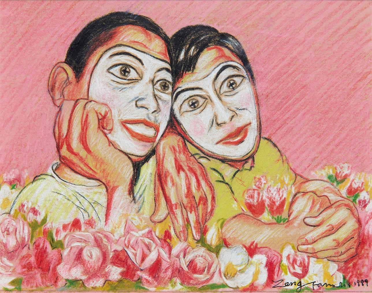 Zeng Fanzhi-Untitled (Mask Series)-1999