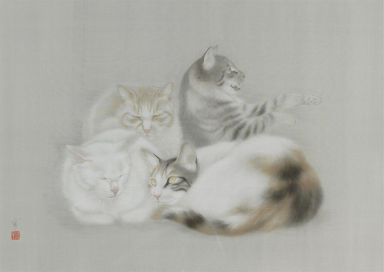 Shen Ning-Four Cats-