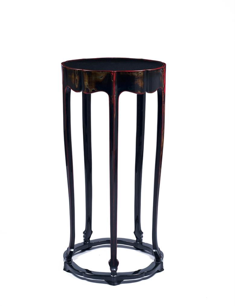 Shen Kelong , Shen Ping - A Lacquer Incense Stand-