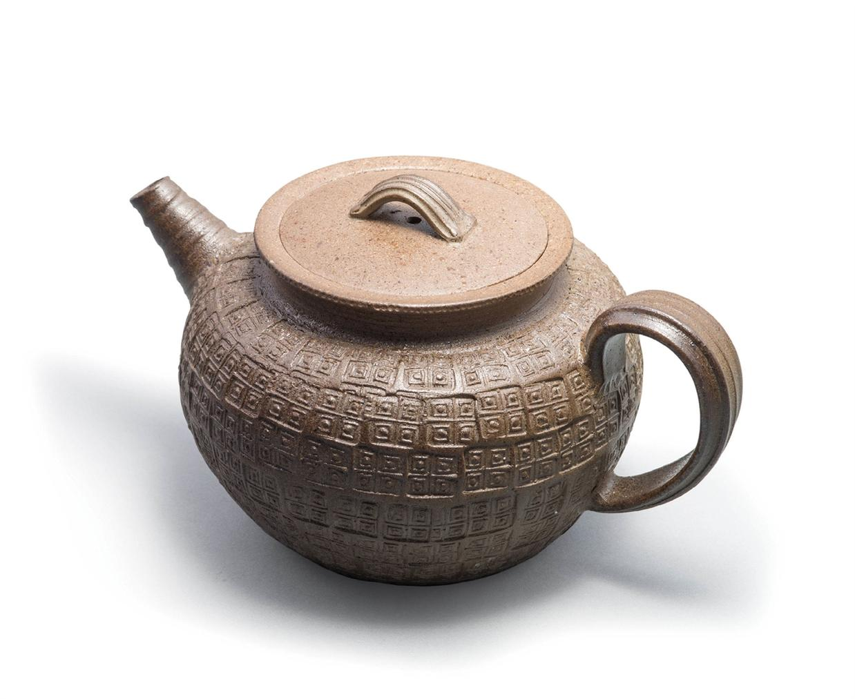 Gao Zhenyu - A 'Warring States' Embossed Yixing Clay Teapot-