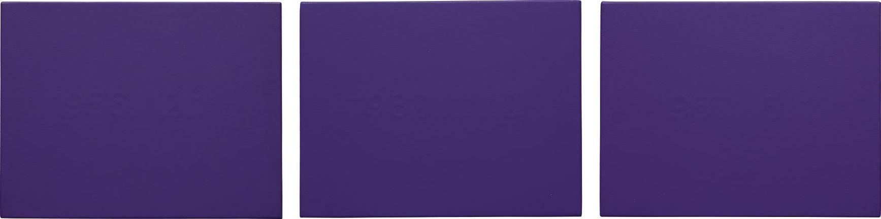 Takashi Murakami-Three Works: (i) Date Painting (1957.6.1); (ii) Date Painting (1982.11.12); (iii) Date Painting (1956.12.11)-1993