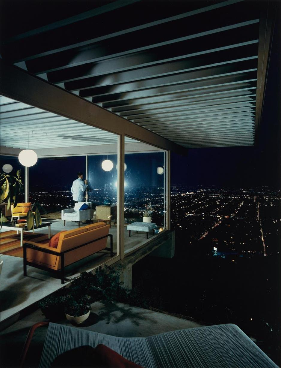 Julius Shulman-Case Study House No. 22, Los Angeles, Pierre Koenig, Architect-1960