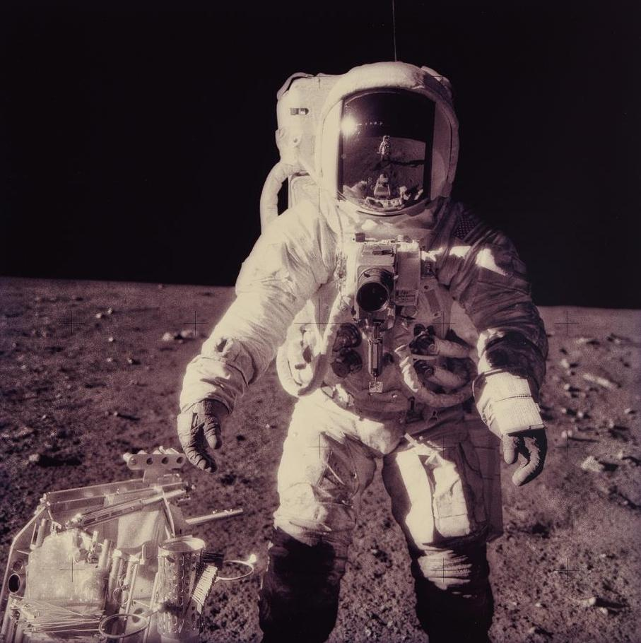 Michael Light-Alan Bean At Sharp Crater With The Hand Tool Carrier; Photographed By Charles Conrad, Apollo 12, November 14-24, 1969, From The Project Full Moon-1999