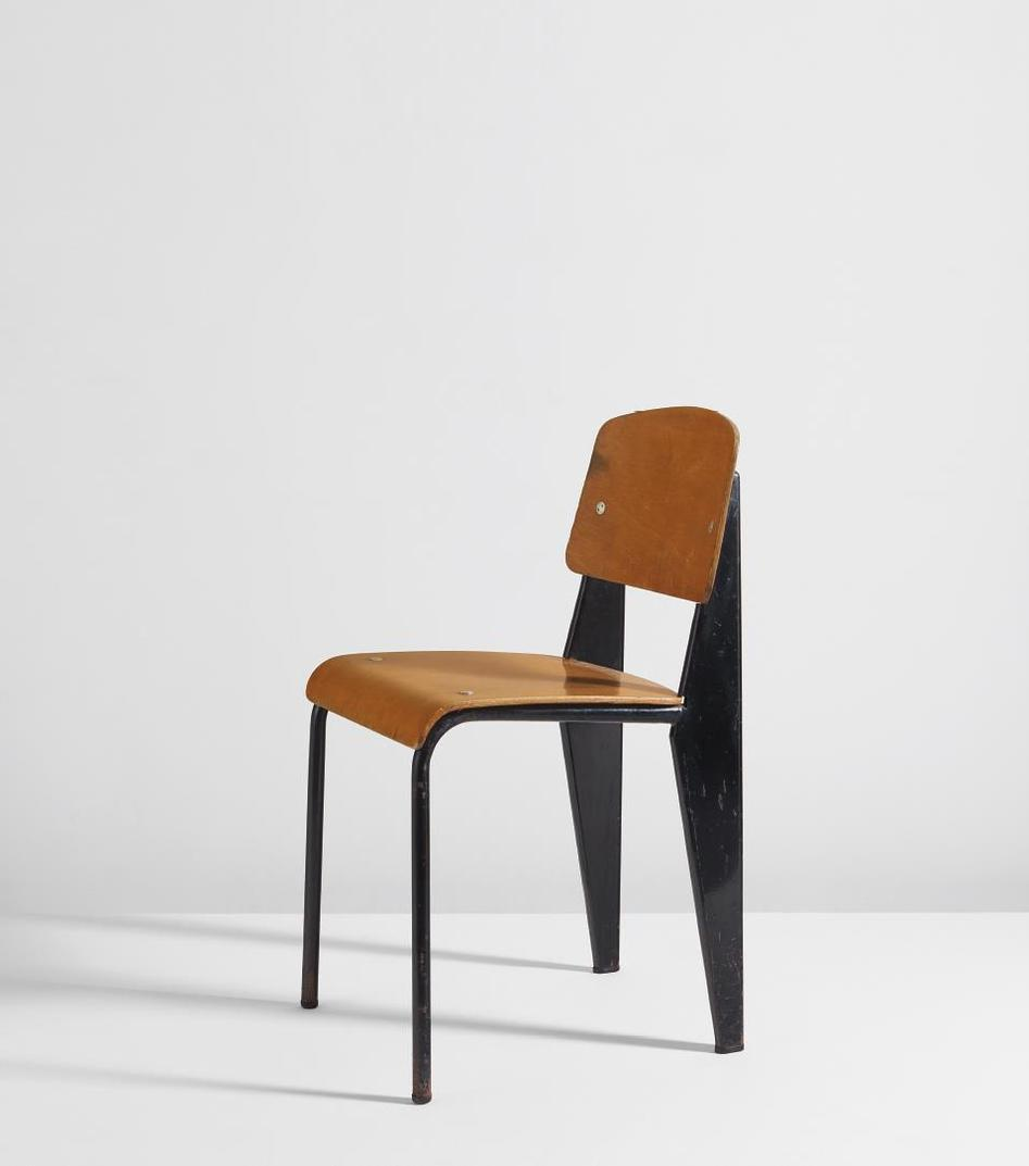 Jean Prouve-Semi-Metal Chair, Model No. 305-1950
