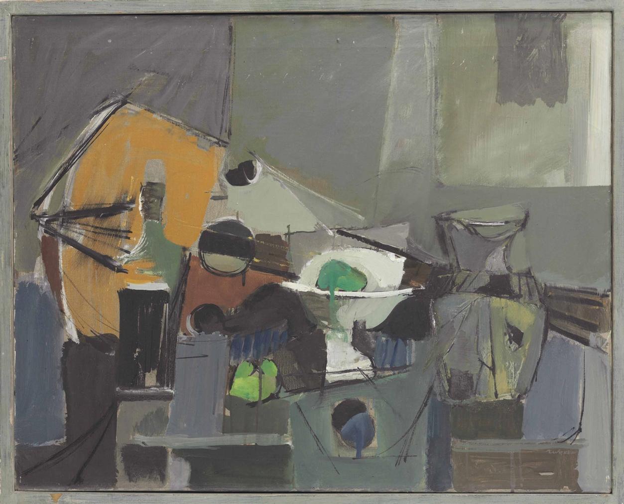 Jack Tworkov-Blue Still Life-1948