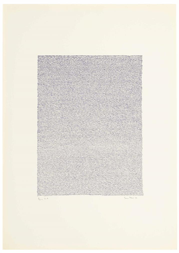 Irma Blank-Eigenschriften, Pagina 53-A-1970