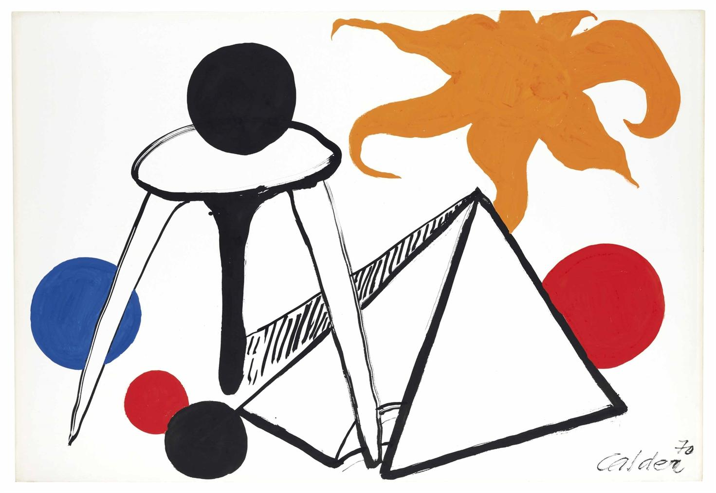 Alexander Calder-On The Moon-1970