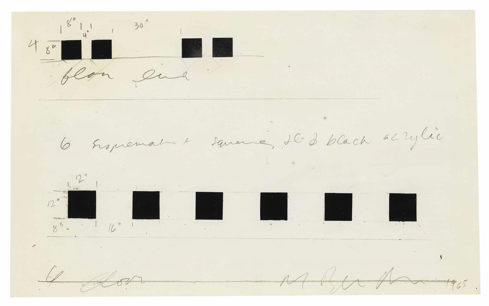 Art & Language-Drawing For Six And Four Suprematist Squares-1965