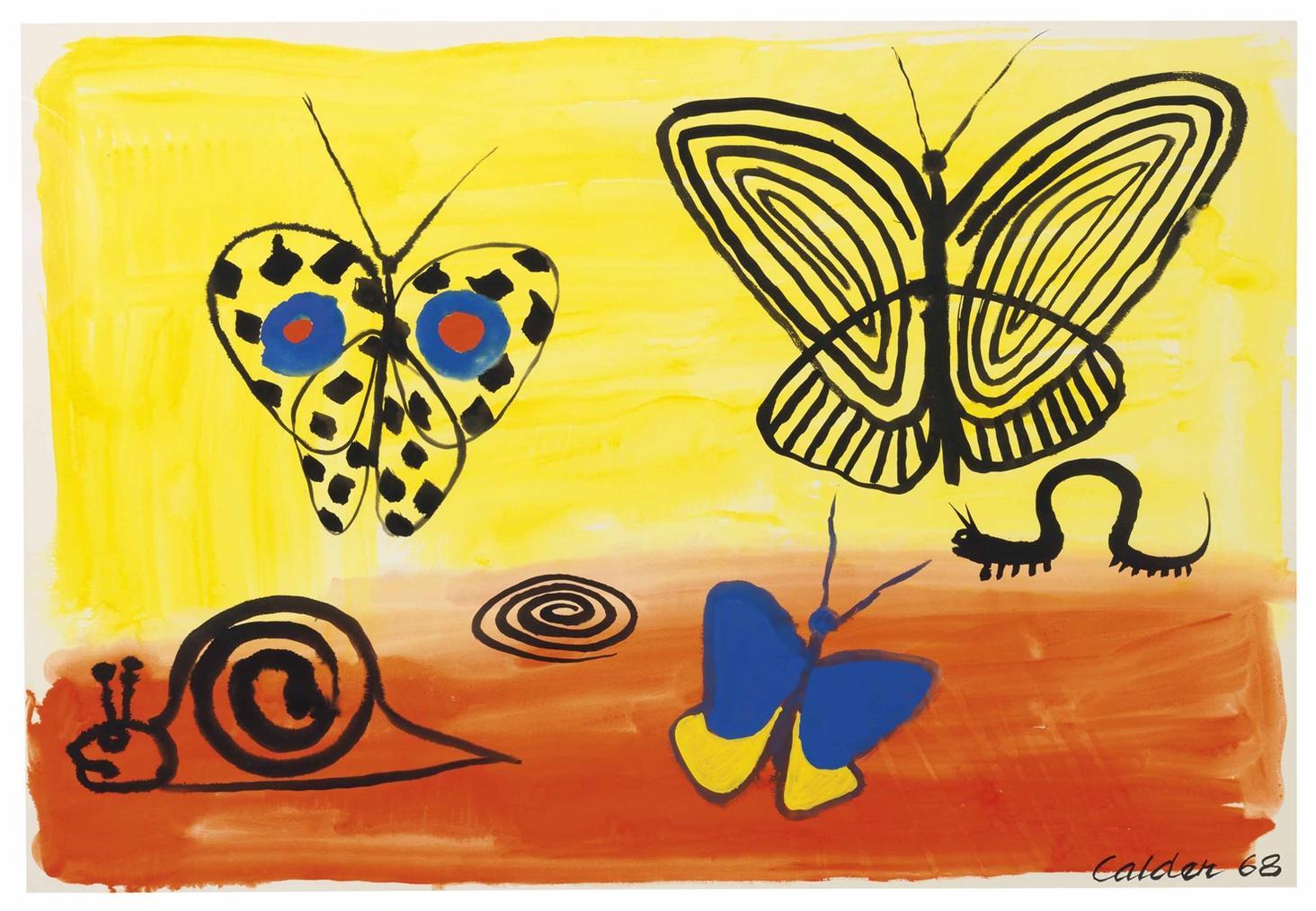 Alexander Calder-Blue-Eyed Butterfly-1968