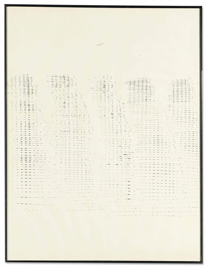 Heinz Mack-Zeichnung Mit Kleinen Frequenzen-1958