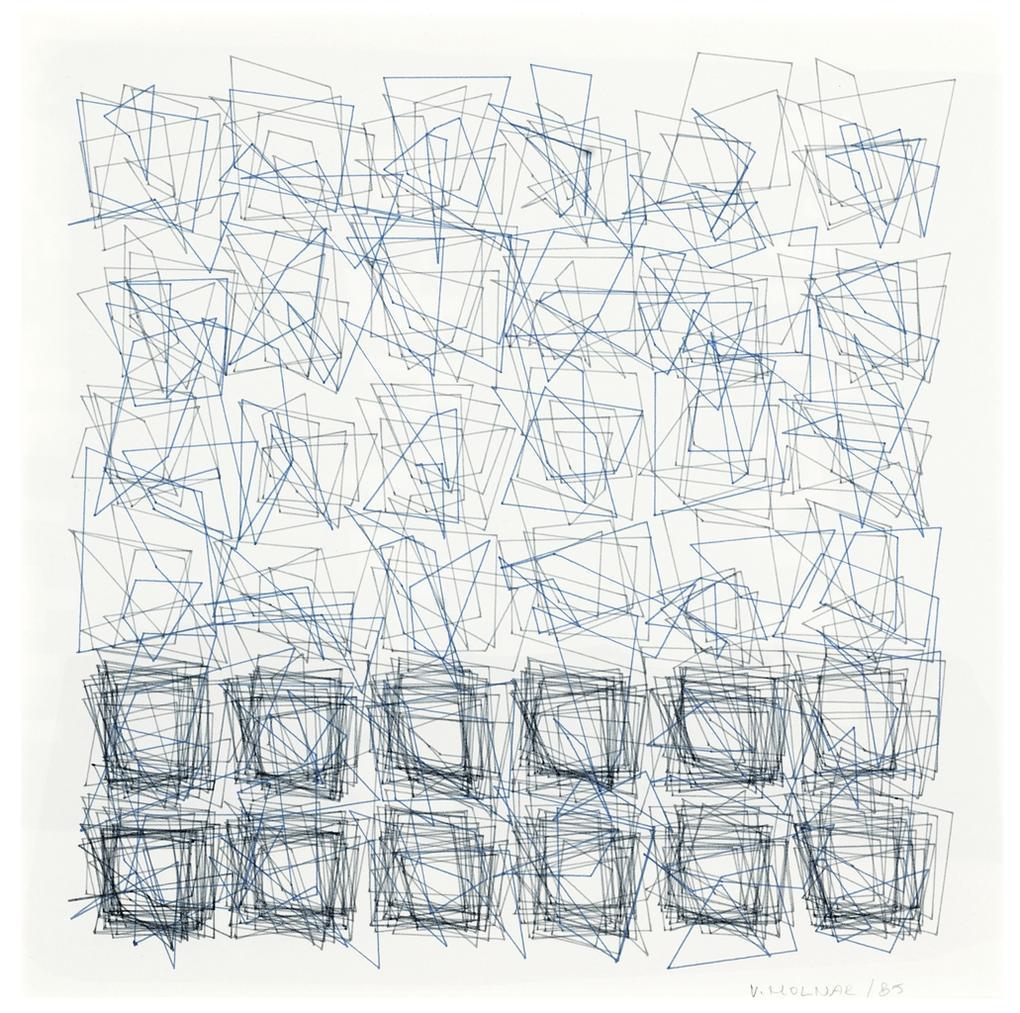 Vera Molnar-Stucture De Quadrilateres (Square)-1985