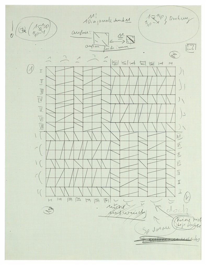 Hanne Darboven-Konstruktionszeichnung-1968