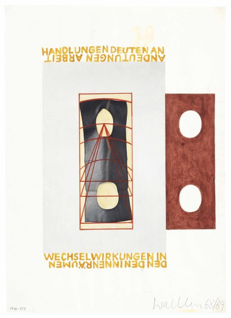 Franz Erhard Walther-Werkzeichnung (#31)-1969