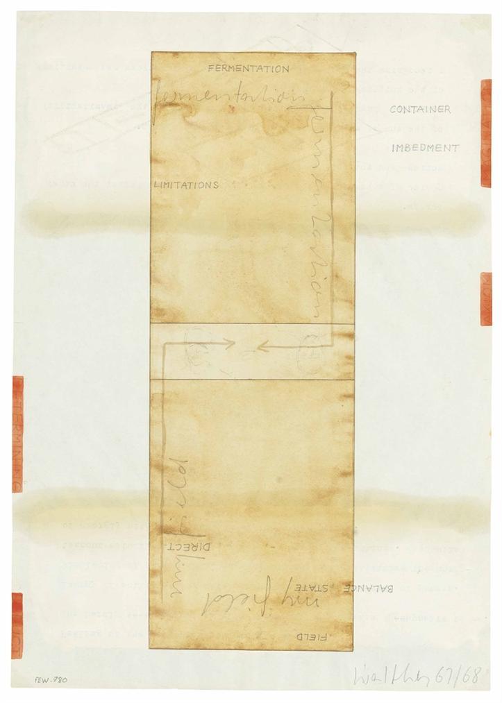 Franz Erhard Walther-Werkzeichnung (#24)-1968