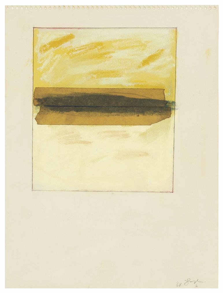 Joan Snyder-Masking Tape Horizon-1968