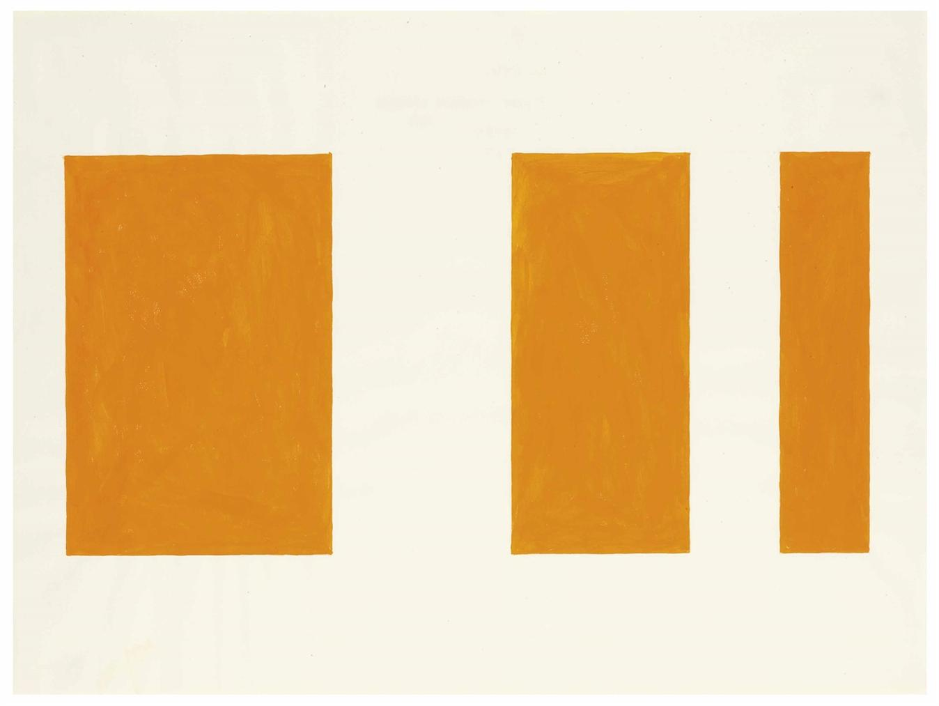 Paul Mogensen - No Title (3 Part Cadmium Orange)-1967