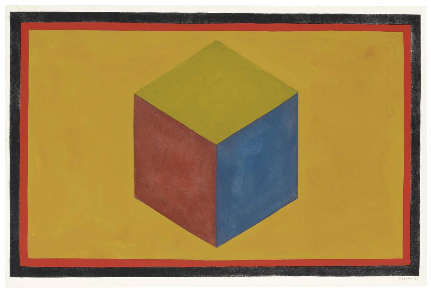 Sol LeWitt-Form Derived From A Cube-1987