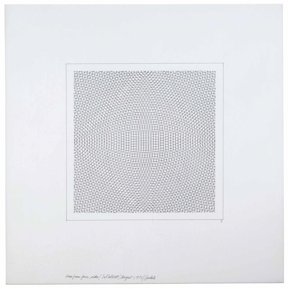 Sol LeWitt-Arcs From Four Sides-1972