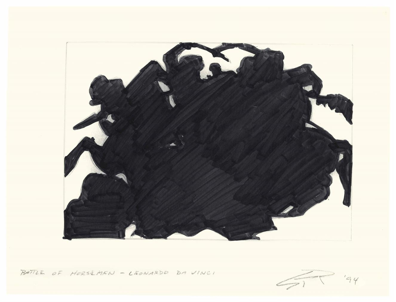 Steven Parrino-Battle Of The Horsemen-Leonardo Da Vinci-1994