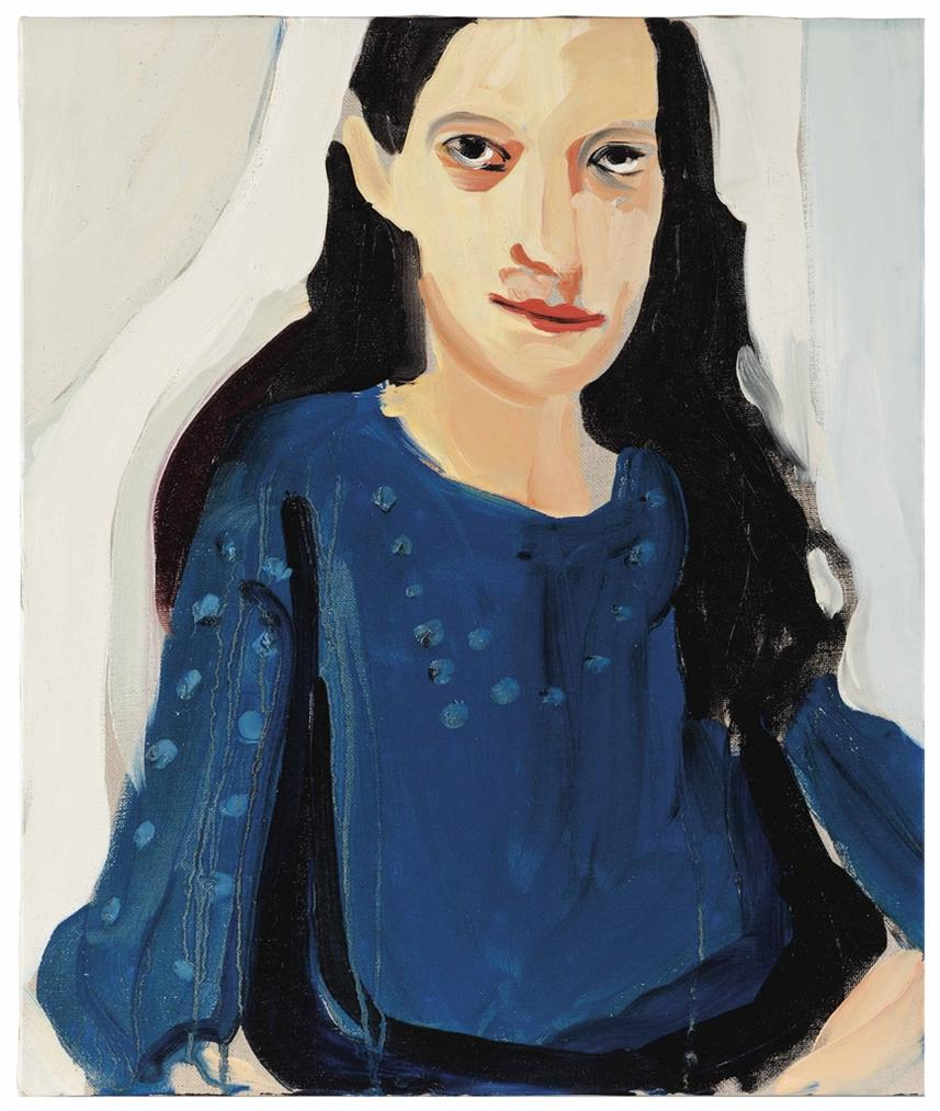 Chantal Joffe-Marcella In A Blue Dress-2009