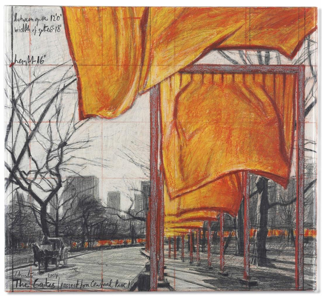 Christo and Jeanne-Claude-The Gates, Project For Central Park, New York City-2004