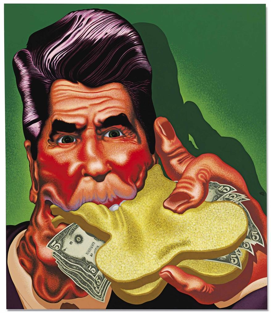 Peter Saul-Ronald Reagan II-1984