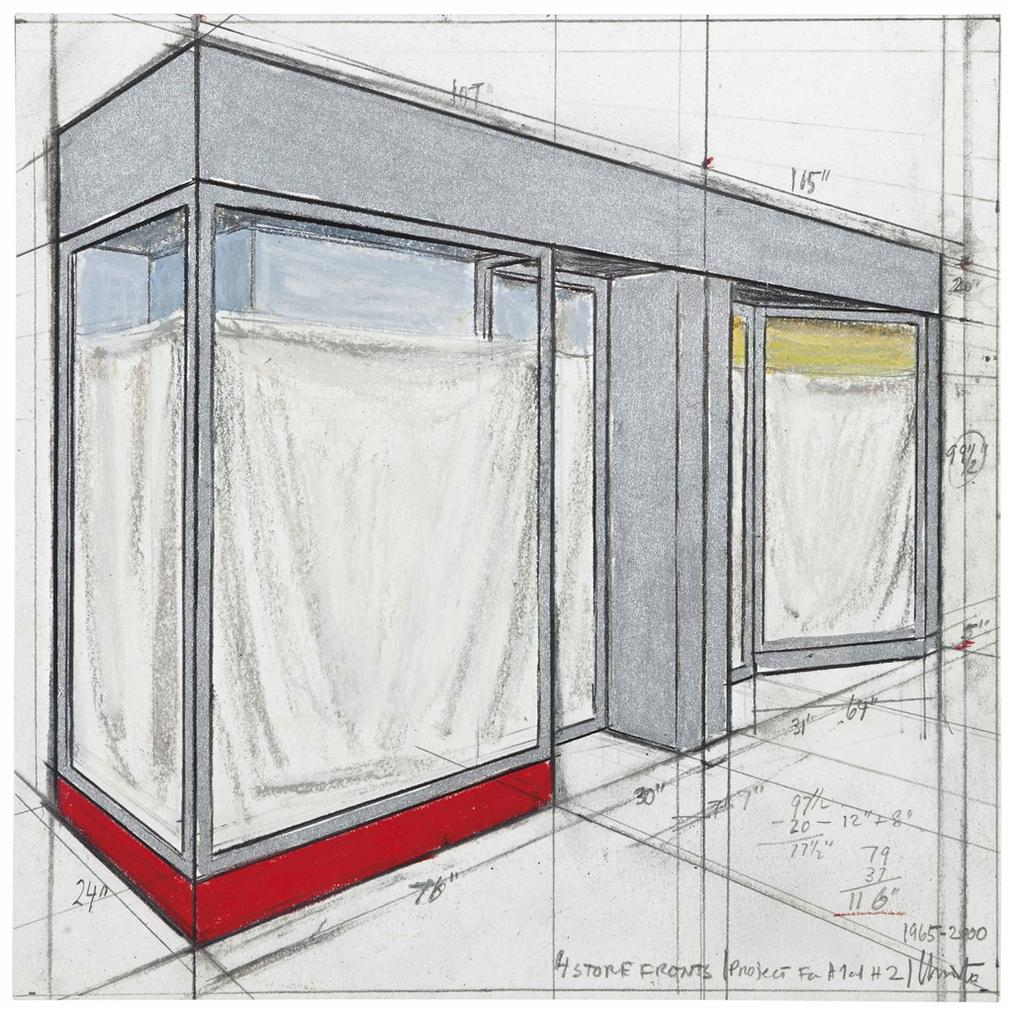 Christo and Jeanne-Claude-4 Store Fronts (Project For H1 And H2)-2000