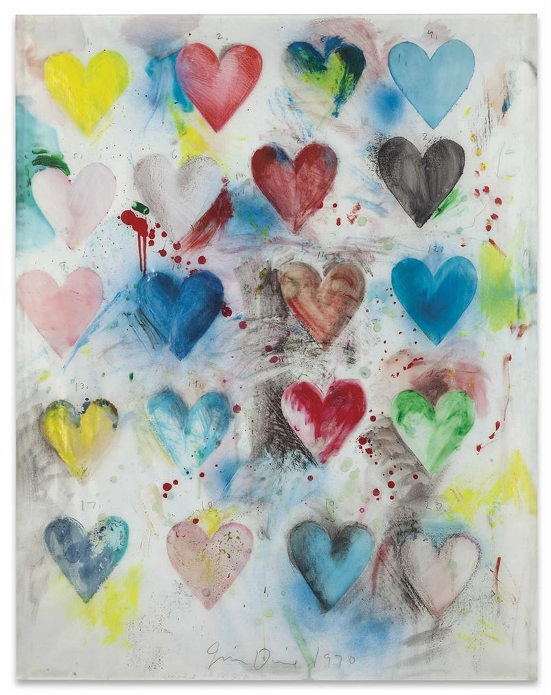 Jim Dine-Heart Drawing-1988