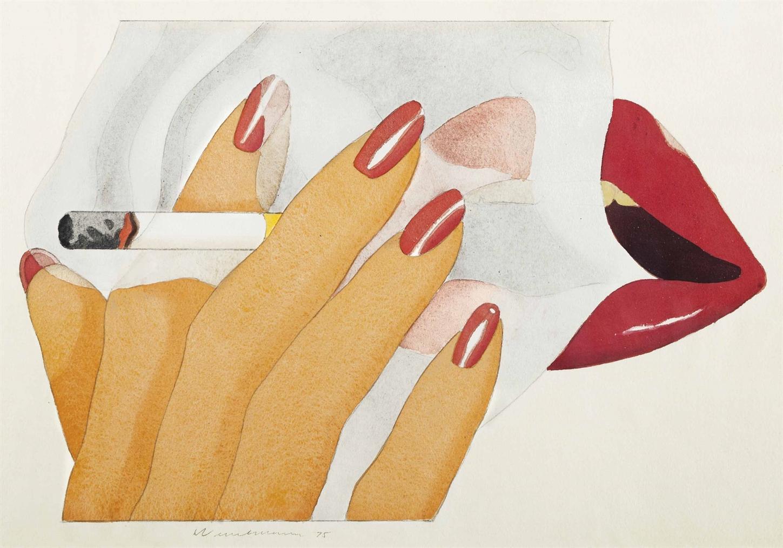 Tom Wesselmann-Study For Smoker Lithograph (Study #2)-1975