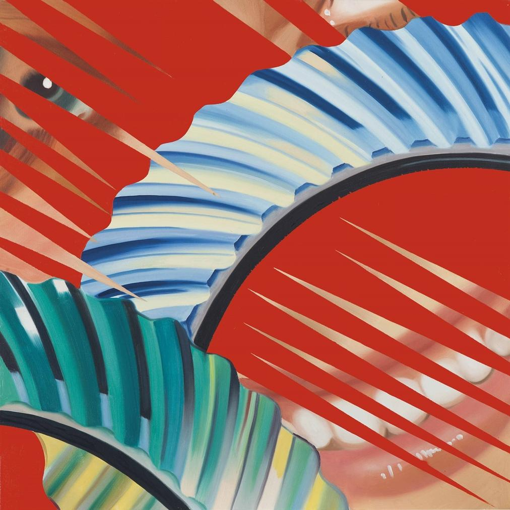 James Rosenquist-Sketch For Frictionless Smile-1983