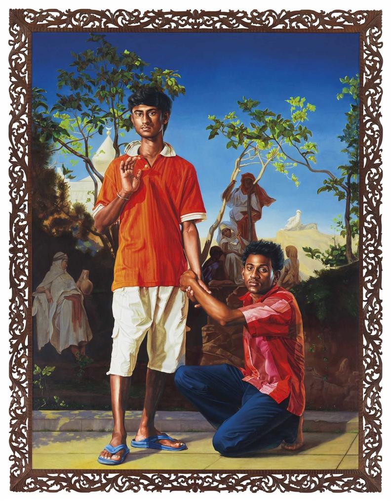 Kehinde Wiley-Annoyed Ragha With Her Friends-2010