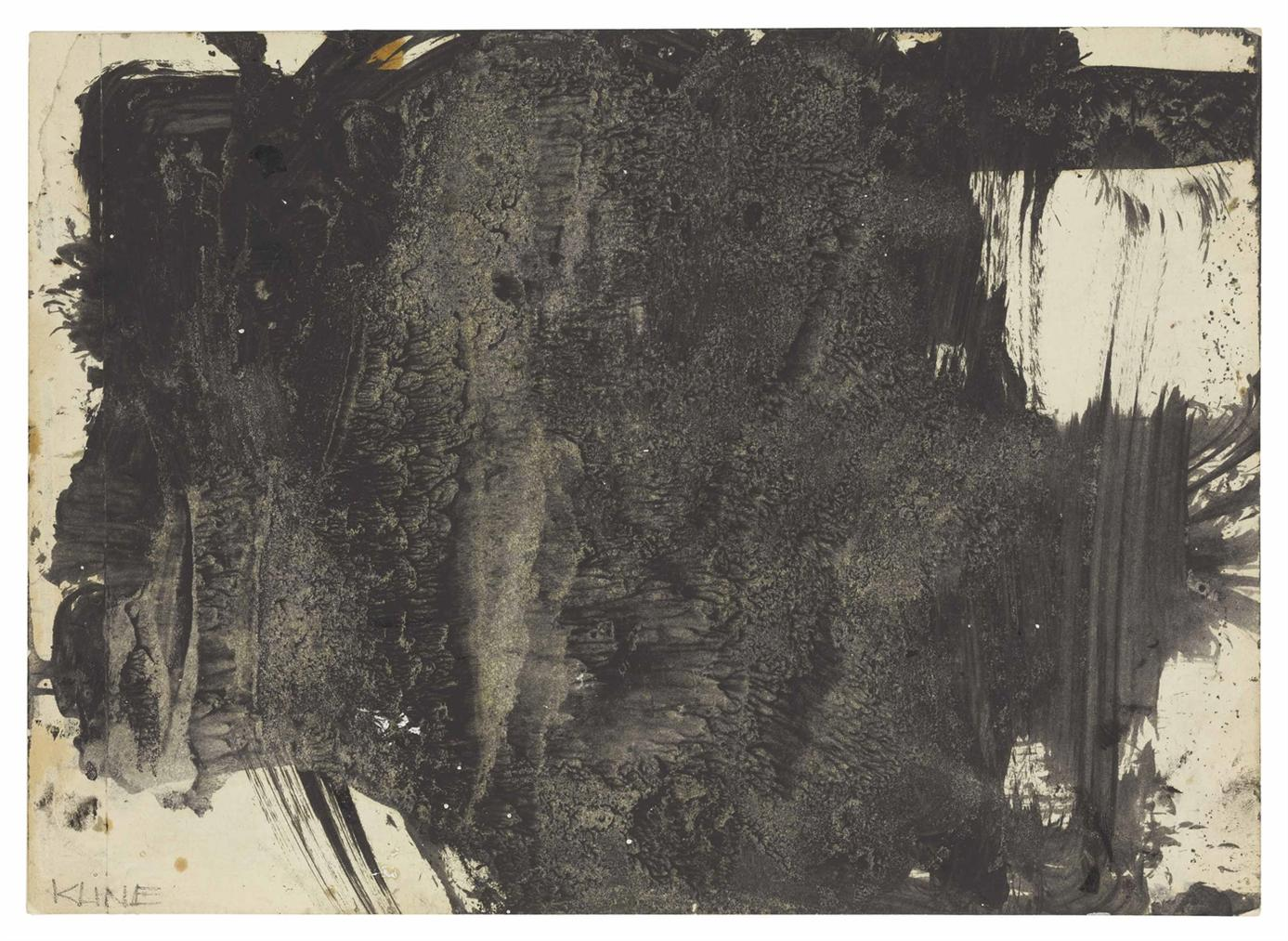 Franz Kline-Untitled (Study For Laureline)-1956