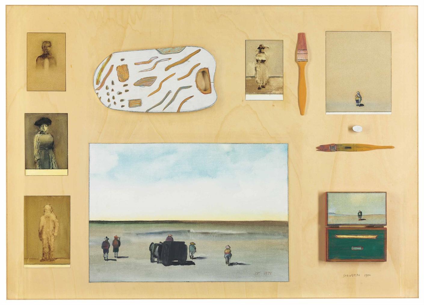 Saul Steinberg-Travel Table-1982