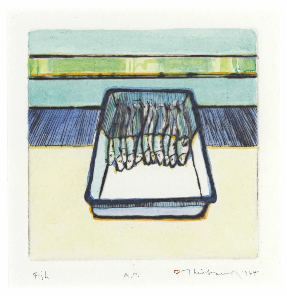 Wayne Thiebaud-Fish-1964